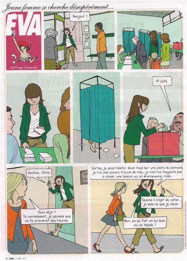 Eva et les élections dans Coupures de presse Eva-001