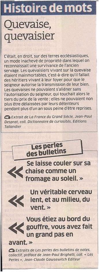 Histoire de mots dans Coupures de presse ER012
