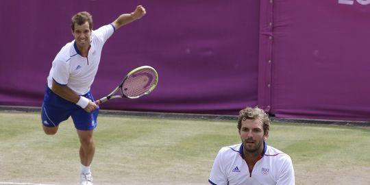 JO de Londres : bronze et argent au tennis masculin 1742543_3_2a42_gasquet-et-benneteau-sont-en-bronze-samedi-a_c7ea34c00a36c07a5072eb16883d3fac