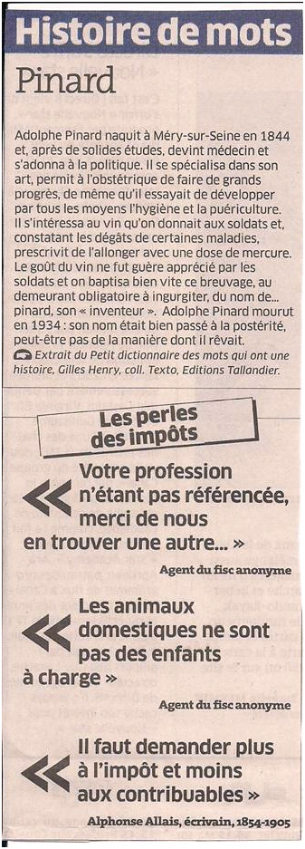 Histoire de mots dans Coupures de presse ER015