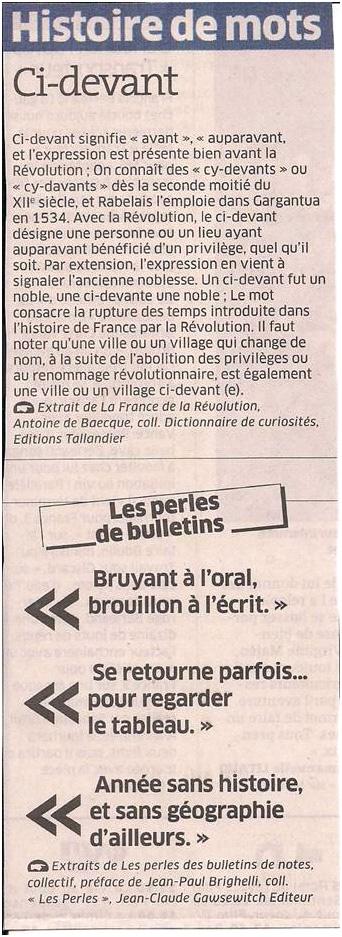 Histoire de mots dans Coupures de presse ER017