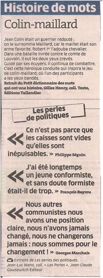 Histoire de mots dans Coupures de presse ER019