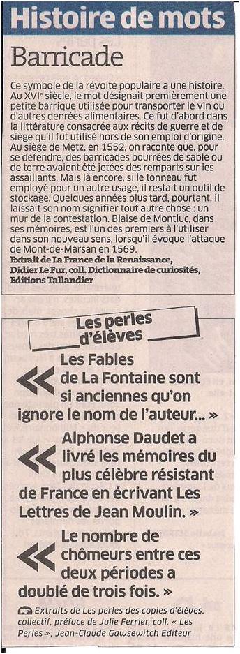 Histoire de mots dans Coupures de presse ER021