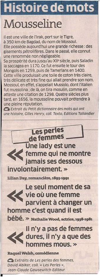 Histoire de mots dans Coupures de presse ER023