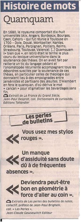 Histoire de mots dans Coupures de presse ER024