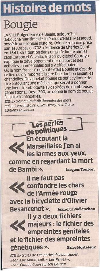 Histoire de mots dans Coupures de presse ER025