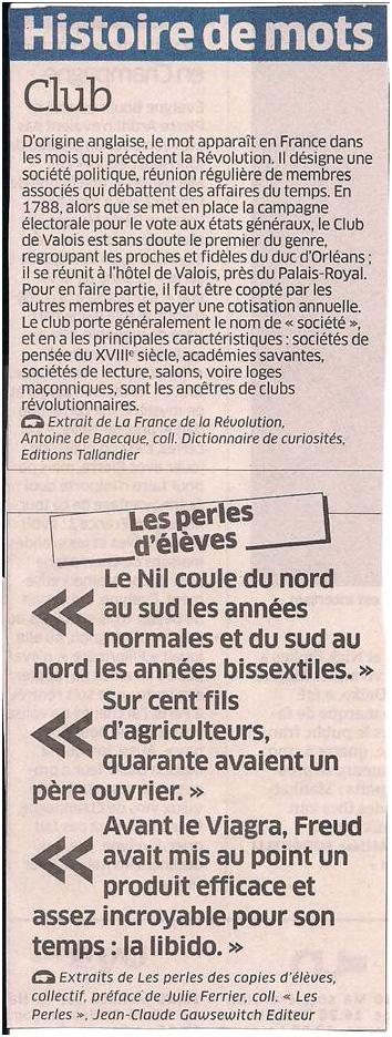 Histoire de mots dans Coupures de presse ER028