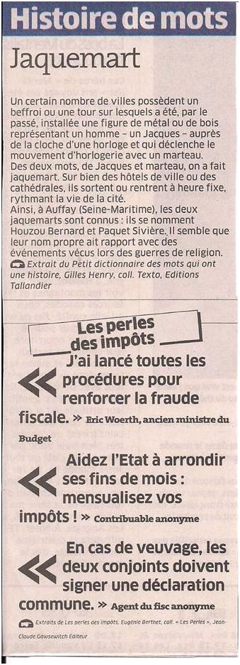 Histoire de mots dans Coupures de presse ER029