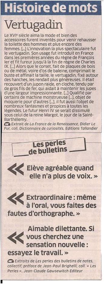 Histoire de mots dans Coupures de presse ER030