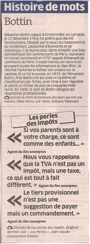 Histoire de mots dans Coupures de presse ER035