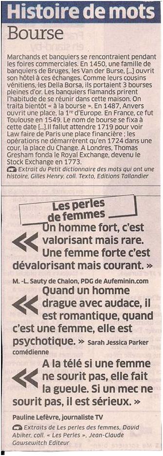 Histoire de mots dans Coupures de presse ER037