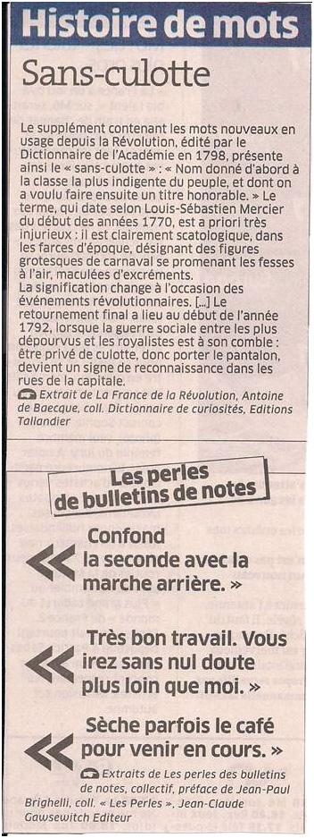 Histoire de mots dans Coupures de presse ER038