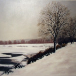 Mo 01 Neige sur l'étang de Méréville petit