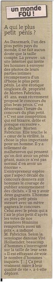 Le concours du plus petit... zizi ! dans Coupures de presse er049