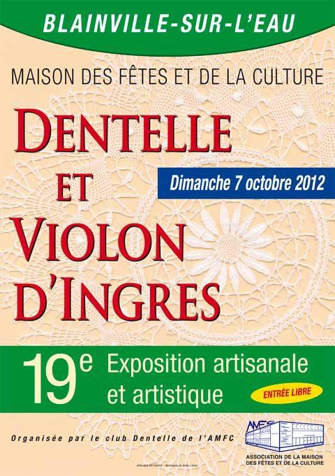Dentelles et violon d'Ingres dans Expos et salons du livre expo-Blainville