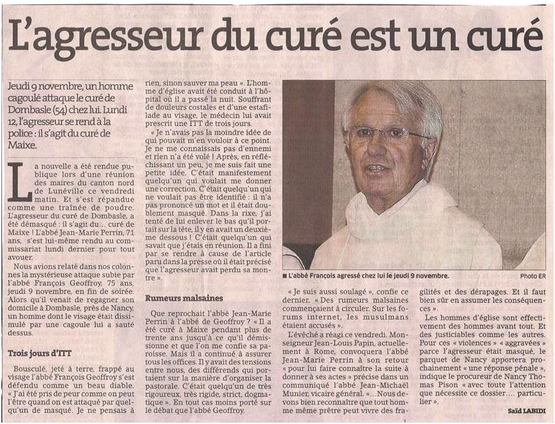 Une histoire de curés... dans Coupures de presse er054