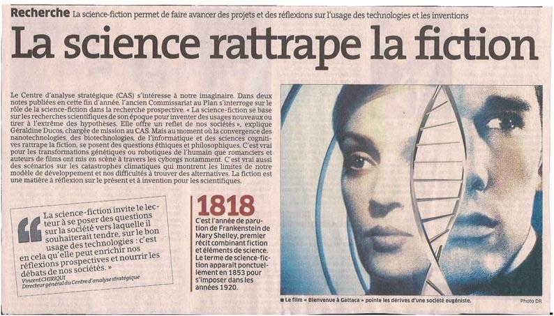 La science et la fiction dans Coupures de presse er058