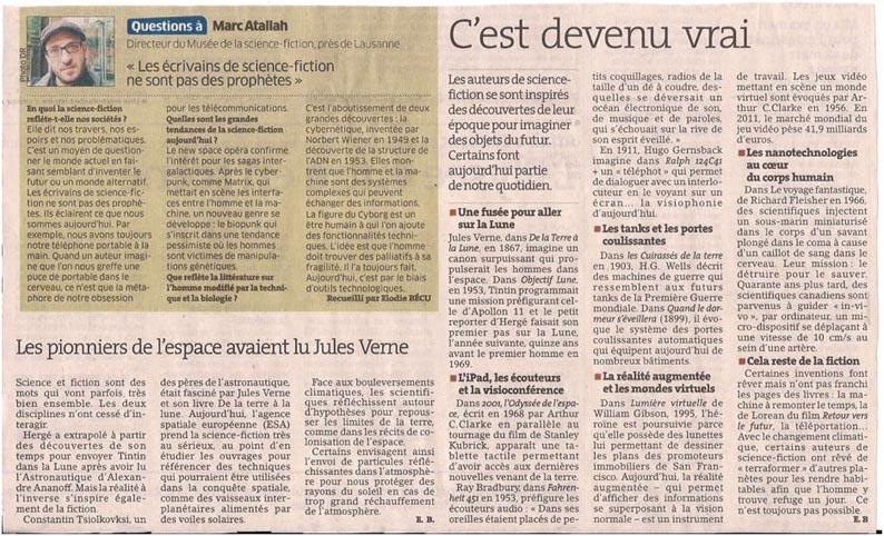 La science et la littérature dans Coupures de presse er059