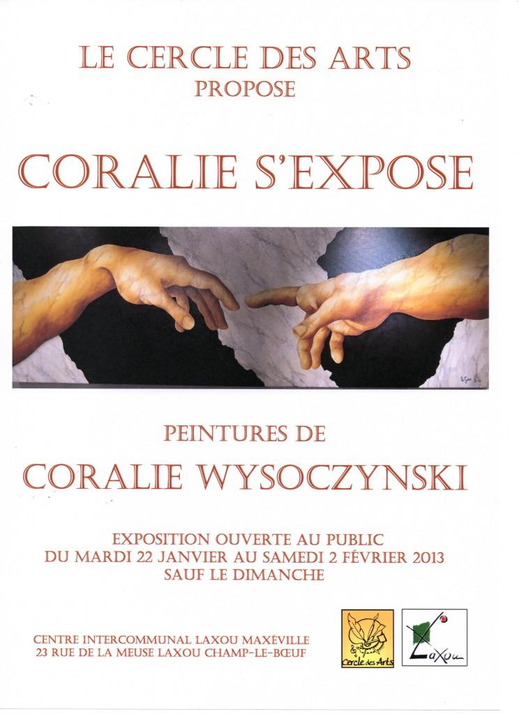 Coralie Wysoczynski s'expose dans Expos et salons du livre affiche-coralie001