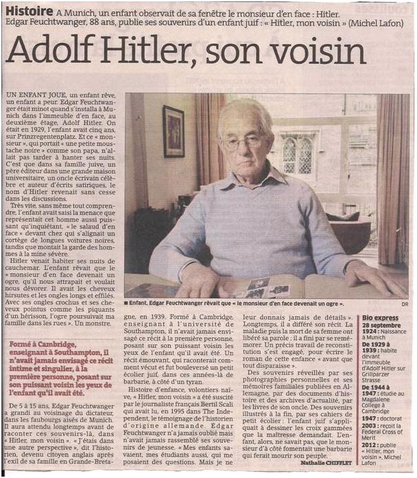 Hitler, mon voisin dans Coupures de presse er04