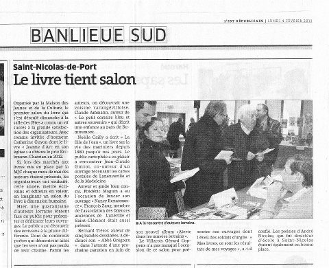 Le Salon du Livre de Saint-Nicolas-de-Port encore... dans Coupures de presse er06