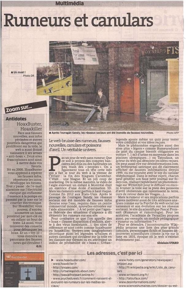 Rumeurs et canulars (trop c'est trop !) dans Coupures de presse er23