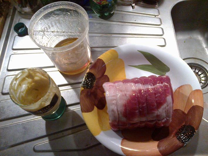 Rôti de porc à la moutarde et au miel dans * viandes roti-moutarde-et-miel-1