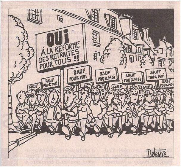 La réforme des retraites... dans Coupures de presse er33