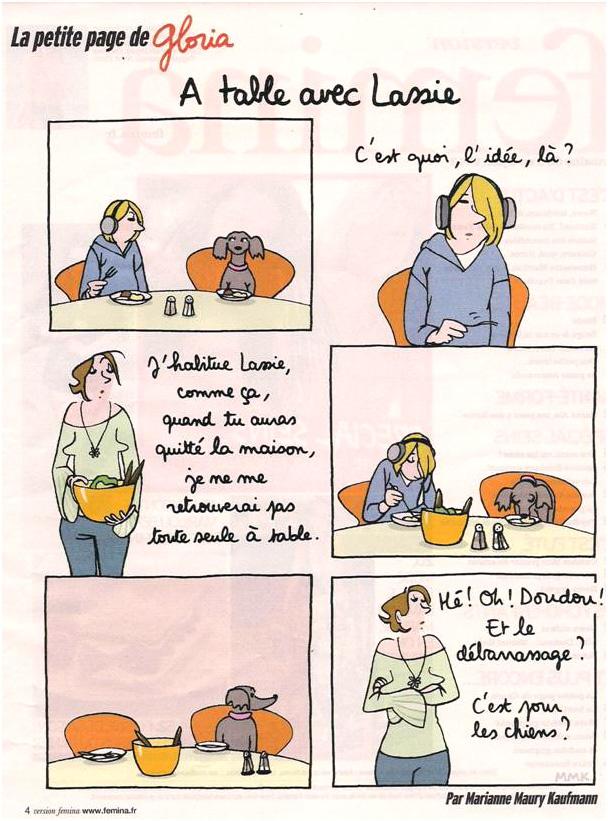 Un gosse ou un chien ? ça se discute !... dans Coupures de presse gloria-22