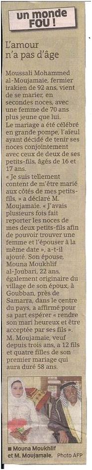 70 ans d'écart : les mariés n'avaient pas l'air gai... dans Coupures de presse er37