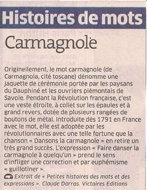 La Carmagnole dans Coupures de presse er41