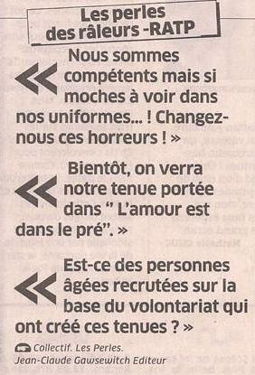 Les perles de la RATP dans Coupures de presse er42