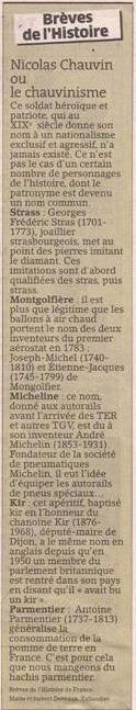 Chauvin, Montgolfier, Parmentier et autres dans Coupures de presse er49