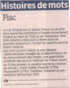 Le fisc dans Coupures de presse er61