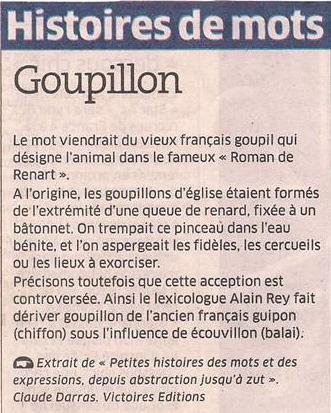 Le goupillon dans Coupures de presse er67