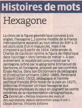 Hexagone dans Coupures de presse er106