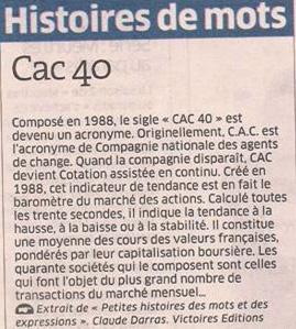 CAC 40 dans Coupures de presse er112