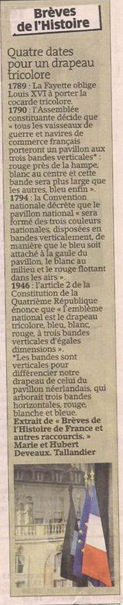 Le drapeau tricolore dans Coupures de presse er114