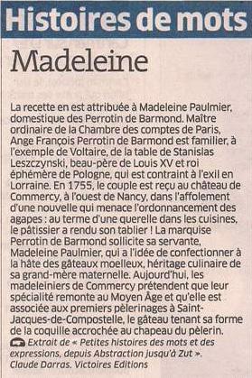 La madeleine dans Coupures de presse er118