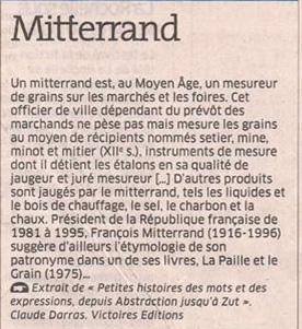 Mitterrand dans Coupures de presse er121