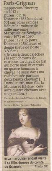 Histoire de distances dans Coupures de presse er124