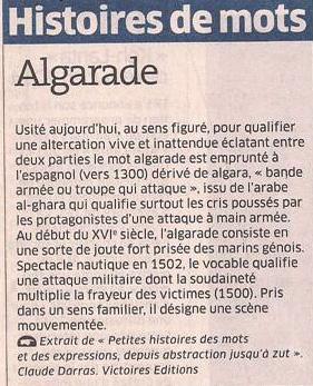 Algarade dans Coupures de presse er78