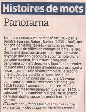 Panorama dans Coupures de presse er81