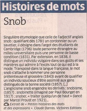 *Snob dans Coupures de presse er84