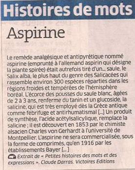 Aspirine dans Coupures de presse er87