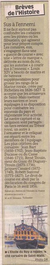 Corsaires, pirates et autres flibustiers dans Coupures de presse er92