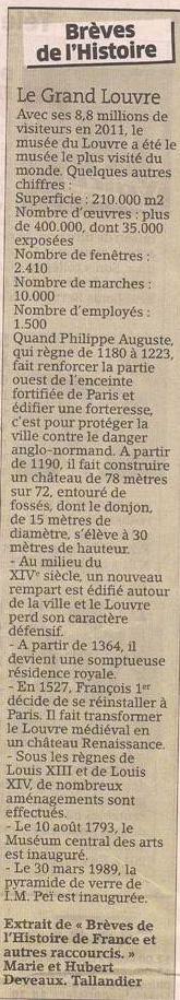 Le Grand Louvre dans Coupures de presse er95