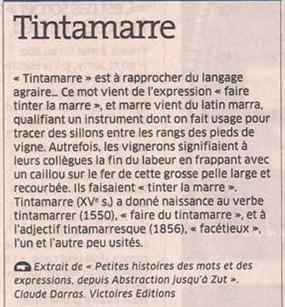 Tintamarre dans Coupures de presse er132