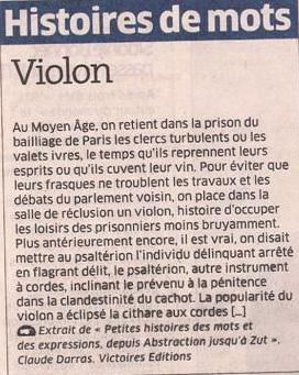 Violon dans Coupures de presse er135
