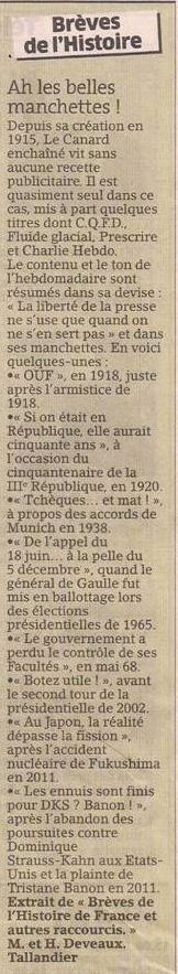 Le Canard enchaîné dans Coupures de presse er137